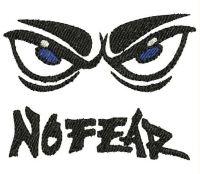 NO FEAR Logo  Embroidery design