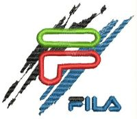 FILA Logo  Embroidery design