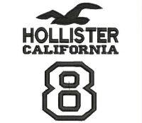 HOLLISTER CALIFORNIA Logo  Embroidery design