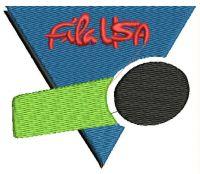 FILA USA Logo  Embroidery design