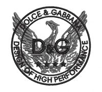 D & G Logo  Embroidery design