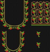 South blouse birds  embroidary design