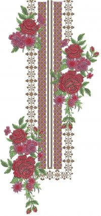 fancy neck 3mm multi embroidery design