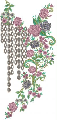 3mm multi neck embroidery design
