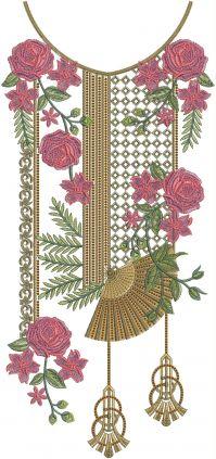 unique 3mm multi neck embroidery design