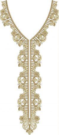 simple neck multi embroidery design