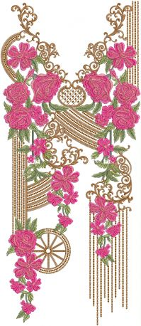 3mm multi v neck embroidery design