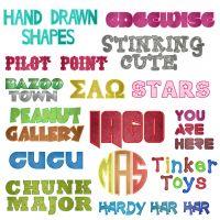 Applique Font  35 Machine Embroidery Fonts