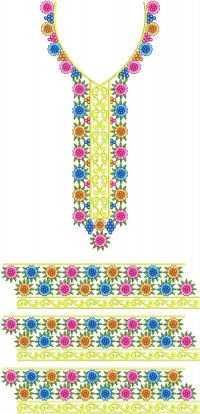simple flower emroidery design