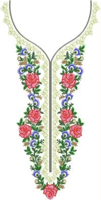 fancy multi neck embroidery design