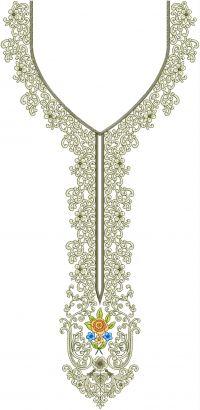 simple multi neck embroidery design