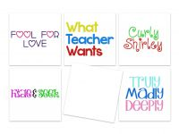 5 NEW Summer Full Font Sets for Machine Embroidery