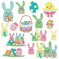 Easter Bunnies and Eggs Mega Pack