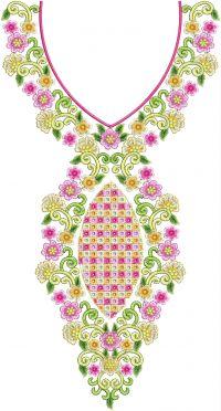 unique broad neck embroidery design