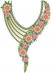 fancy round neck embroidery design