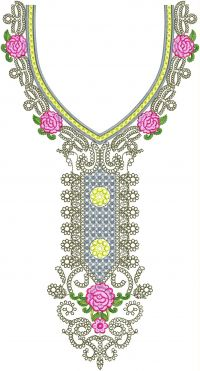 simple   neck embroidery design