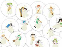 15 Music Angel Machine Embroidery Designs