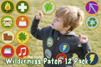 In The Hoop Wilderness Patch 12 Pack Embroidery Designs