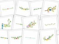 Floral Borders Plus Embroidery Designs