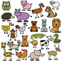 MASSIVE 23 Adorable Stick Animal Embroidery Designs