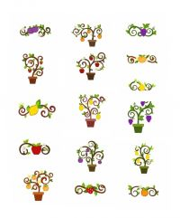 16 Design Fruit Trees Mega Pack Embroidery Designs