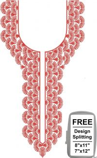 splitted neck embroidery design