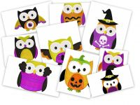Spooky Halloween Owls Pack 18 Embroidery Designs  Applique and Stitched!