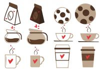 Coffee Love Pack Embroidery Designs Includes Applique and Filled Stitch