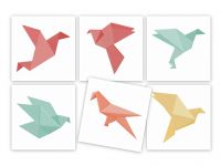 Origami Birds Machine Embroidery Designs Pack