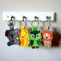 In The Hoop Animal Key Fobs Pack of 12