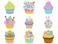 Set of 9 Easter Cupcakes