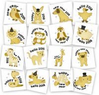 Applique Happy New Year Animals Embroidery Pack