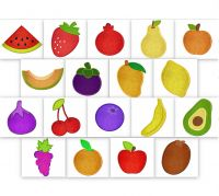 Applique Fruits Embroidery Pack
