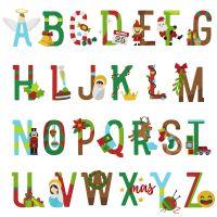 26 Christmas Alphabet Holiday Pack