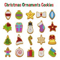 20 Christmas Ornament Cookies Pack