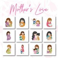 12 Mother's Love Embroidery Design Pack
