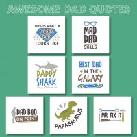 7 Awesome Dad Quotes Embroidery Design Pack