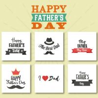 6 Happy Father's Day Embroidery Design Pack