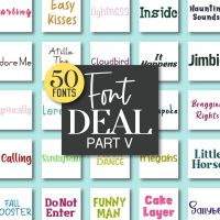 Embroidery Font Deal Part V 50 All New Machine Embroidery Fonts In One Pack