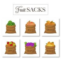 Fruit Sacks Embroidery Designs Pack