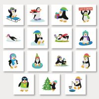 Fun Penguins Embroidery Designs Pack