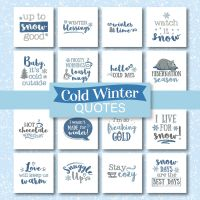 Christmas Week Day 2 – Cold Winter Quotes Embroidery Designs Pack