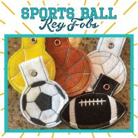 In The Hoop Sports Ball Key Fob. Pack of 6