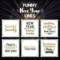 6 Funny New Year Lines Embroidery Design Pack