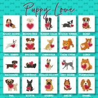 20 Puppy Love Embroidery Design Pack