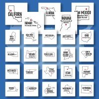 50 State Slogans Embroidery Design Pack