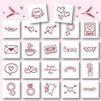 22 Valentine Doodles Embroidery Design Pack