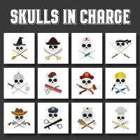 12 Skulls In Charge Embroidery Design Pack