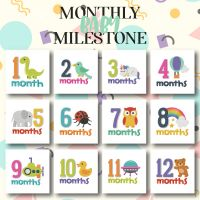 12 Monthly Baby Milestones Embroidery Design Pack