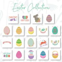 19 Easter Collection Embroidery Design Pack